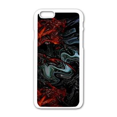 Lines Curves Background  Apple Iphone 6/6s White Enamel Case by amphoto