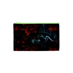 Lines Curves Background  Cosmetic Bag (xs) by amphoto