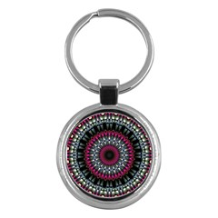 Circles Background Lines  Key Chains (round)  by amphoto