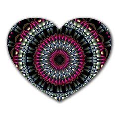 Circles Background Lines  Heart Mousepads by amphoto