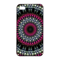 Circles Background Lines  Apple Iphone 4/4s Seamless Case (black) by amphoto