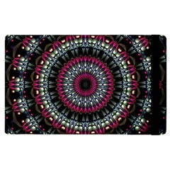 Circles Background Lines  Apple Ipad 3/4 Flip Case by amphoto