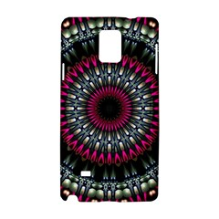 Circles Background Lines  Samsung Galaxy Note 4 Hardshell Case by amphoto