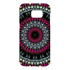 Circles Background Lines  Samsung Galaxy S7 Edge Hardshell Case by amphoto