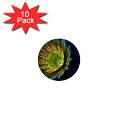 Flower Line Smoke  1  Mini Buttons (10 Pack)  by amphoto