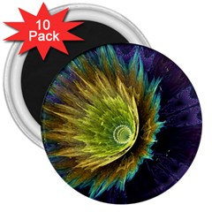 Flower Line Smoke  3  Magnets (10 Pack)  by amphoto
