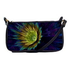 Flower Line Smoke  Shoulder Clutch Bags by amphoto