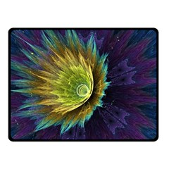 Flower Line Smoke  Double Sided Fleece Blanket (small)  by amphoto