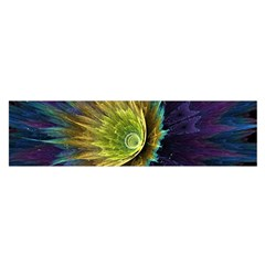 Flower Line Smoke  Satin Scarf (oblong) by amphoto