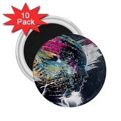 Face Paint Explosion 3840x2400 2 25  Magnets (10 Pack)  by amphoto