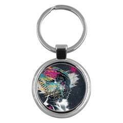 Face Paint Explosion 3840x2400 Key Chains (round)  by amphoto