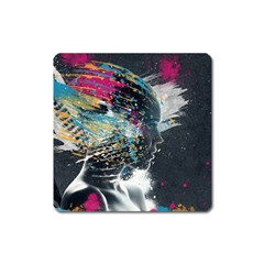 Face Paint Explosion 3840x2400 Square Magnet by amphoto