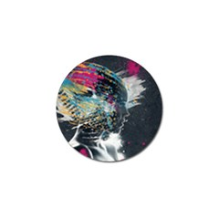 Face Paint Explosion 3840x2400 Golf Ball Marker by amphoto