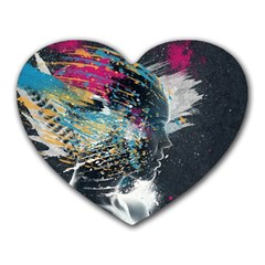 Face Paint Explosion 3840x2400 Heart Mousepads by amphoto