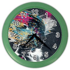 Face Paint Explosion 3840x2400 Color Wall Clocks by amphoto