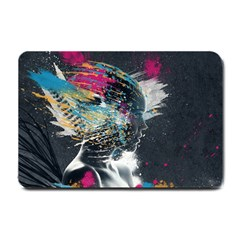Face Paint Explosion 3840x2400 Small Doormat  by amphoto