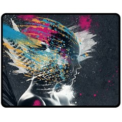 Face Paint Explosion 3840x2400 Fleece Blanket (medium)  by amphoto