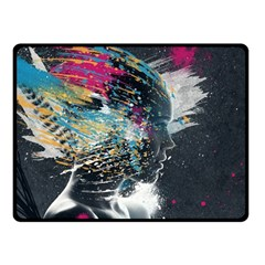 Face Paint Explosion 3840x2400 Fleece Blanket (small) by amphoto
