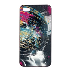 Face Paint Explosion 3840x2400 Apple Iphone 4/4s Seamless Case (black) by amphoto