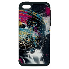 Face Paint Explosion 3840x2400 Apple Iphone 5 Hardshell Case (pc+silicone) by amphoto