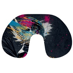Face Paint Explosion 3840x2400 Travel Neck Pillows by amphoto