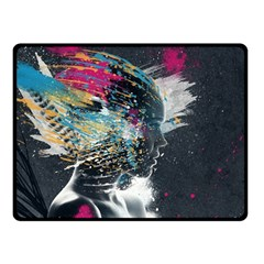 Face Paint Explosion 3840x2400 Double Sided Fleece Blanket (small)  by amphoto