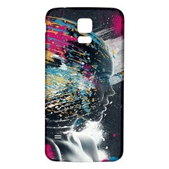 Face Paint Explosion 3840x2400 Samsung Galaxy S5 Back Case (white) by amphoto