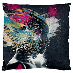 Face Paint Explosion 3840x2400 Standard Flano Cushion Case (two Sides) by amphoto