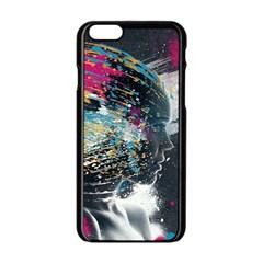 Face Paint Explosion 3840x2400 Apple Iphone 6/6s Black Enamel Case by amphoto