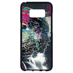 Face Paint Explosion 3840x2400 Samsung Galaxy S8 Black Seamless Case by amphoto