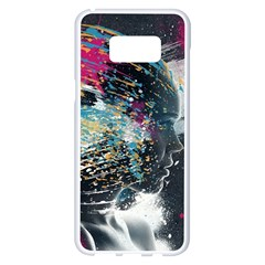 Face Paint Explosion 3840x2400 Samsung Galaxy S8 Plus White Seamless Case by amphoto