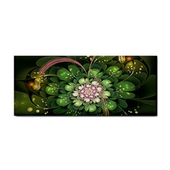 Fractal Flower Petals Green  Cosmetic Storage Cases by amphoto