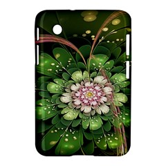 Fractal Flower Petals Green  Samsung Galaxy Tab 2 (7 ) P3100 Hardshell Case  by amphoto