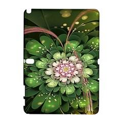 Fractal Flower Petals Green  Galaxy Note 1 by amphoto