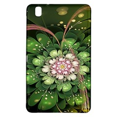 Fractal Flower Petals Green  Samsung Galaxy Tab Pro 8 4 Hardshell Case by amphoto