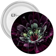 Flower Burst Background  3  Buttons by amphoto