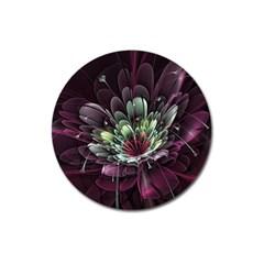 Flower Burst Background  Magnet 3  (Round)