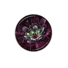 Flower Burst Background  Hat Clip Ball Marker by amphoto