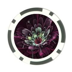 Flower Burst Background  Poker Chip Card Guard (10 pack)