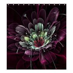 Flower Burst Background  Shower Curtain 66  x 72  (Large)