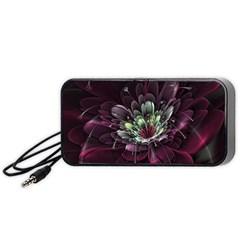 Flower Burst Background  Portable Speaker (Black)