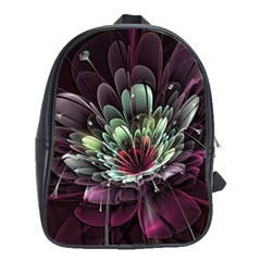 Flower Burst Background  School Bag (xl) by amphoto