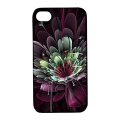 Flower Burst Background  Apple Iphone 4/4s Hardshell Case With Stand by amphoto