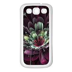 Flower Burst Background  Samsung Galaxy S3 Back Case (white) by amphoto