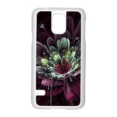Flower Burst Background  Samsung Galaxy S5 Case (White)
