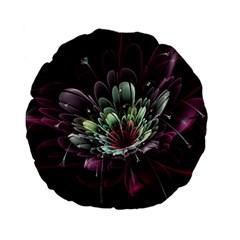 Flower Burst Background  Standard 15  Premium Flano Round Cushions