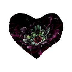 Flower Burst Background  Standard 16  Premium Flano Heart Shape Cushions by amphoto