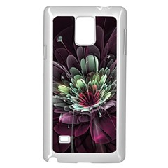 Flower Burst Background  Samsung Galaxy Note 4 Case (white) by amphoto