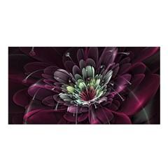 Flower Burst Background  Satin Shawl
