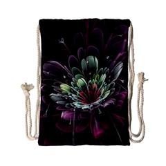 Flower Burst Background  Drawstring Bag (Small)